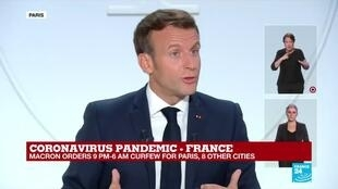 "2020-10-14 20:23 REPLAY - Coronavirus in France: ""We will continue to work, our economy needs this"", says Macron"