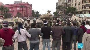 2021-01-25 10:11 Egyptians mark 10-year anniversary since start of protest movement that pushed Mubarak out