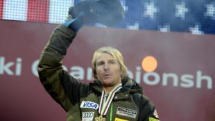 Le skieur américain Ted Ligety, médaillé d'or du combiné aux Championnats du monde, le 13 février 2013 à Schladming (Autriche)