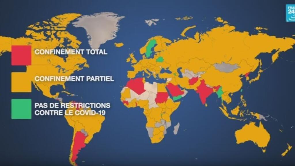 La carte mondiale du déconfinement