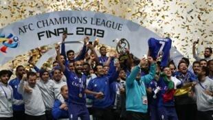 Al Hilal of Saudi Arabia celebrate victory in last year's AFC Champions League final against Japan's Urawa Red Diamonds