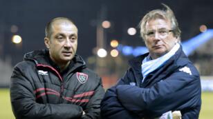 Mourad Boudjellal (à g.) et Jacky Lorenzetti (à d.), présidents du RCT et du Racing 92.