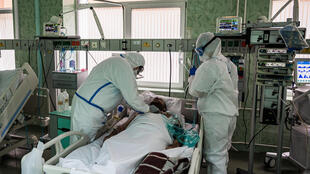 The 36 beds in this coronavirus ward have been occupied continuously since mid-April