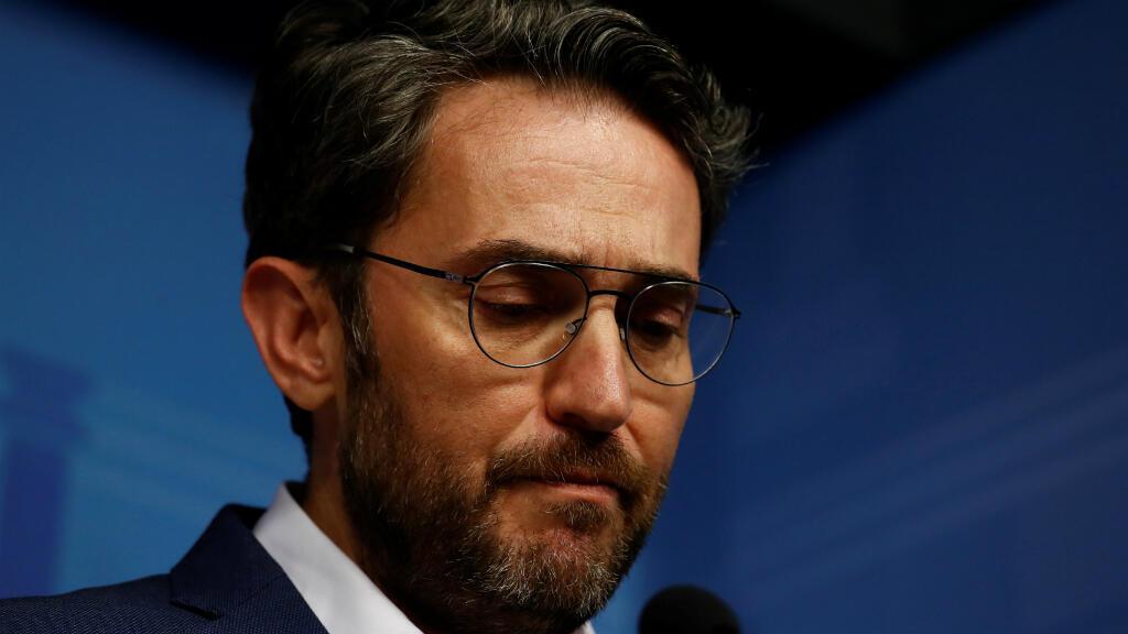 Màxim Huerta durante el anuncio de su dimisión.