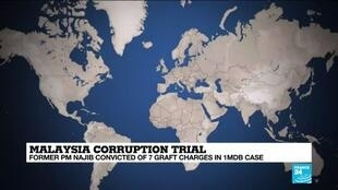 2020-07-28 14:08 Malaysia's former PM convicted in landmark 1MDB corruption trial