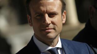 Emmanuel Macron à Alger, le 17 février 2017.