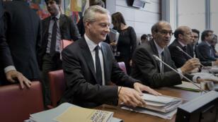 Le ministre de l'Économie Bruno Le Maire et Président de la commission des finances de l'Assemblée nationale Éric Woerth, le 27 septembre 2017.