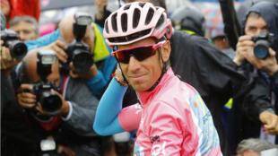 L'Italien Vincenzo Nibali a gagné le Giro qui s'est achevé à Turin en Italie, le 29 mai 2016.