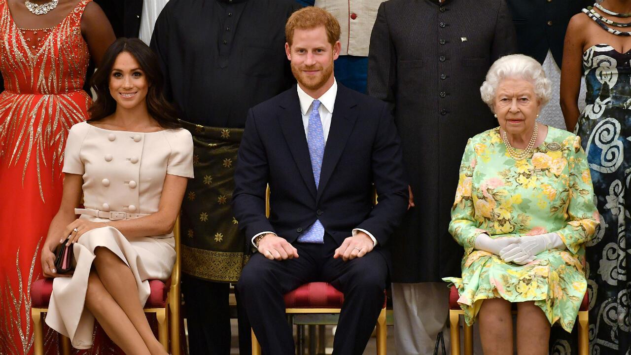 UK Harry Meghan queen elizabeth II sussex royal family