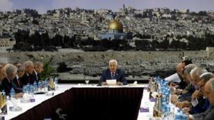 اجتماع القيادة الفلسطينية بمقر الرئاسة برام الله - 25 يوليو/ تموز 2019.