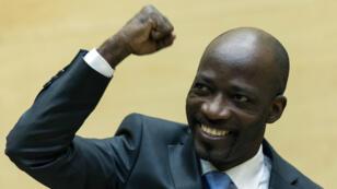 Charles Blé Goudé, le 27 mars 2014, à la Cour pénale internationale de La Haye.