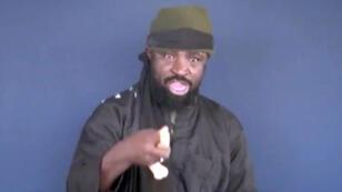 Abubakar Shekau, chef de Boko Haram. Capture d'écran d'une vidéo diffusée par l'organisation islamiste Boko Haram le 17 février 2015.