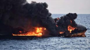 El 14 de enero el Ministerio de Transporte de China reportó una nueva explosión en el buque petrolero iraní Sanchi.