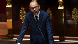 Édouard Philippe, le 4 juillet 2017 à l'Assemblée nationale, lors de sa première déclaration de politique générale.