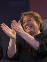 Former (and possible future) President Michele Bachelet.