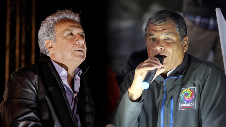 Lenín Moreno (izquierda) ha criticado ferozmente a la anterior administración de Rafael Correa, de la cual hizo parte.