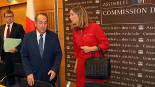 Le préfet de police de Paris, Michel Delpuech, aux côtés de Yaël Braun-Pivet, présidente de la commission des lois de l'Assemblée nationale, le 23 juillet.