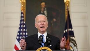 Joe Biden à la Maison Blanche le 2 mars 2021.