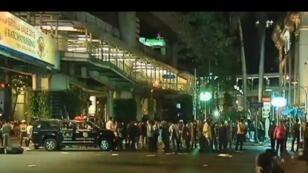 صورة من موقع الانفجار مأخوذة من شريط فيديو