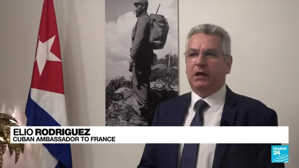 2021-07-27 15:10 Cuban Embassy in Paris says it was attacked with petrol bombs