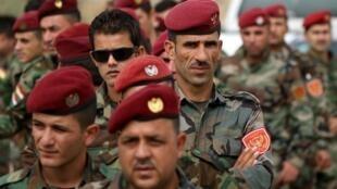قوات البشمركة لدى مشاركتها في استفتاء 25 أيلول/سبتمبر 2017 حول استقلال إقليم كردستان العراق