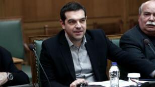 Le Premier ministre grec, Alexis Tsipras, lors d'une session parlementaire à Athènes.