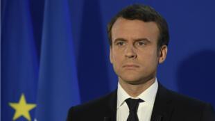 Emmanuel Macron au soir de sa victoire à l'élection présidentielle.