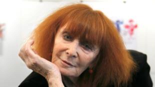 Sonia Rykiel, fondatrice de la maison de couture du même nom, photographiée en 2010.