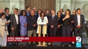 2020-06-28 21:57 Municipales 2020 : Anne Hidalgo, réélue maire de Paris