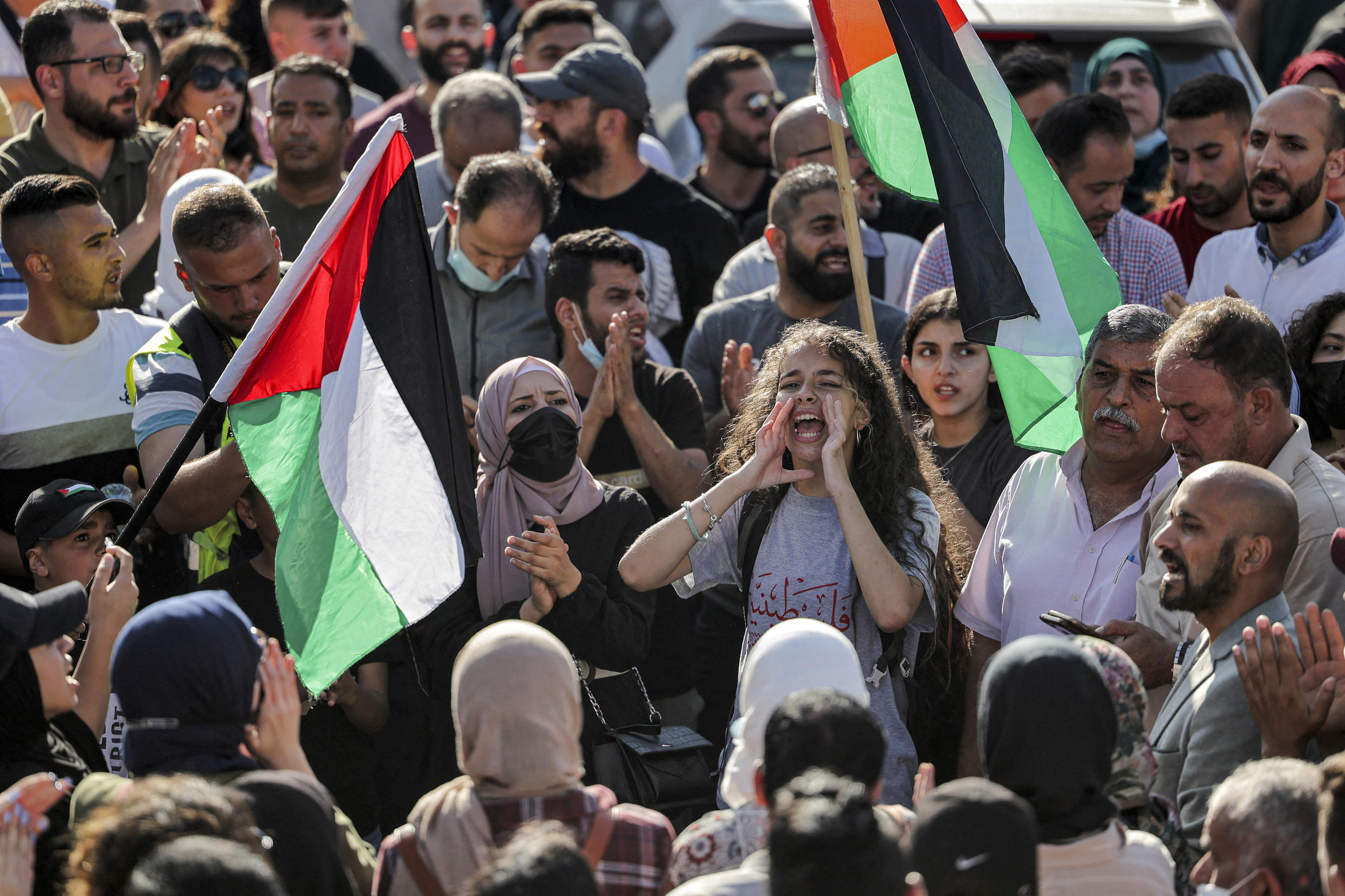 West Bank protest
