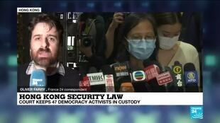 2021-03-04 16:01 Hong Kong court keeps 47 democracy activists in custody