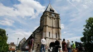 كنيسة سانت اتيان دو روفري في 28 تموز/يوليو 2016