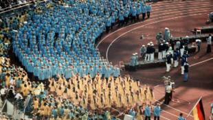 La délégation de la RFA lors des Jeux Olympiques de 1972