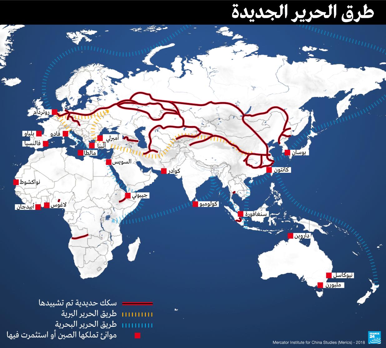 خريطة طرق الحرير الجديدة
