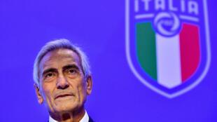 رئيس الاتحاد الإيطالي لكرة القدم غابرييل غرافينا في صورة مؤرجة في 22 تشرين الأول/أكتوبر 2018.