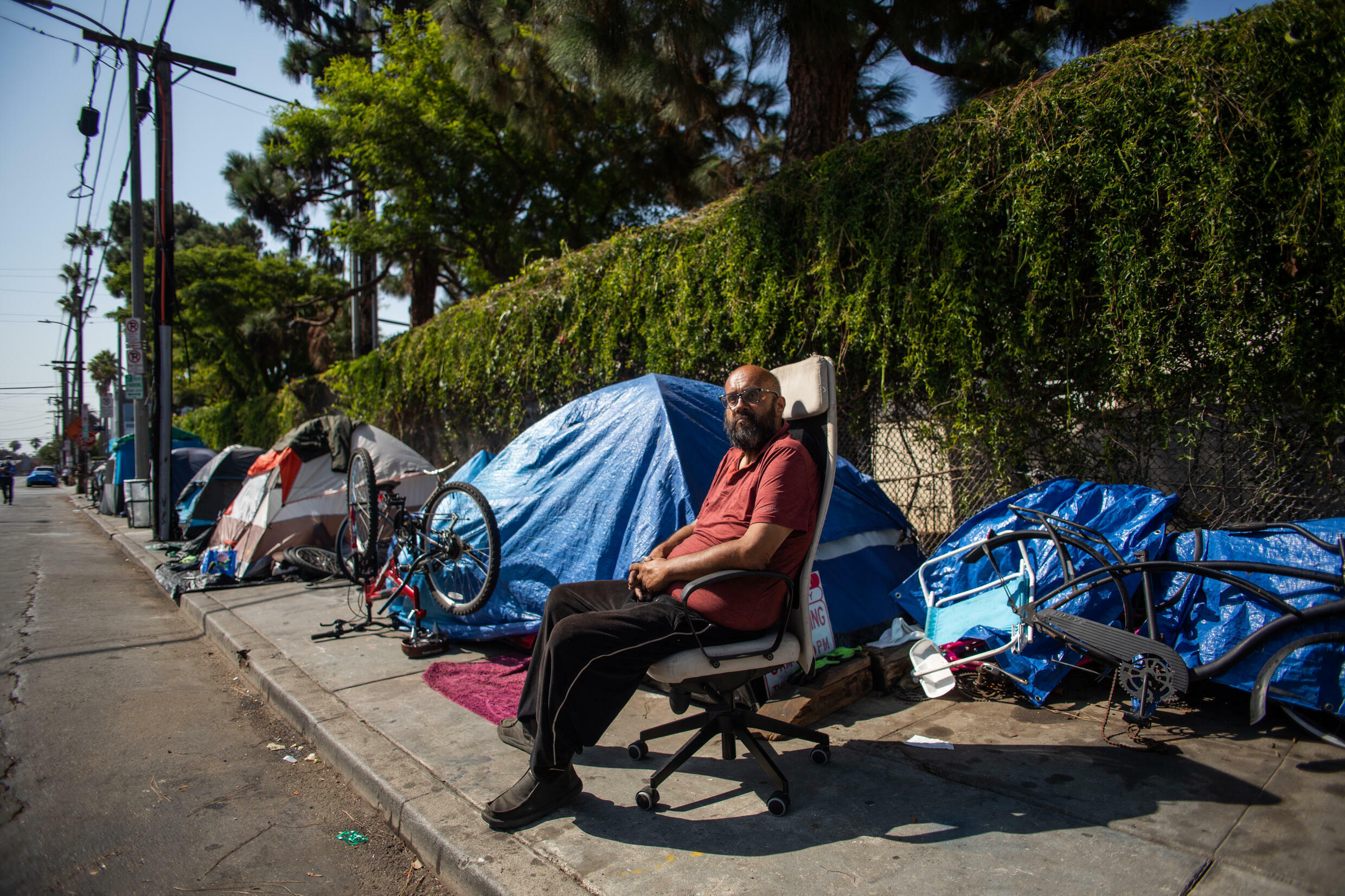 Shocking levels of homelessness in California are an ongoing problem for voters, with thousands living in tents on the streets