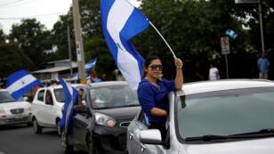 Opositores al gobierno de Daniel Ortega llaman a una paralización para exigir el cese de la represión tras 56 días de protestas. Junio 10 de 2018.