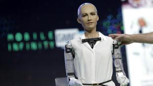 Le robot Sophia.