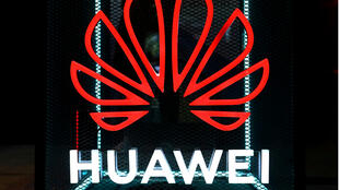 The Huawei logo is pictured at the IFA consumer tech fair in Berlin, Germany, September 5, 2019.