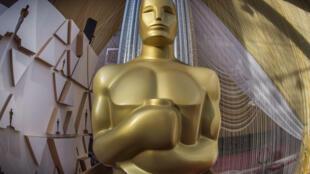 Une statue des Oscars à Los Angeles, le 8 février 2020