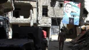 """مخيم اليرموك جنوب دمشق الذي سيطر عليه تنظيم """"الدولة الإسلامية"""""""