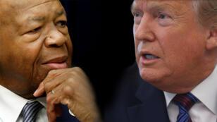 Elijah Cummings, miembro de la Cámara de Representantes de Estados Unidos, y el presidente de dicha nación, Donald Trump.