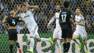 Le Croate Marko Pjaca a ouvert le score pour la Juventus, qui s'est imposé face à Porto, le 22 février.