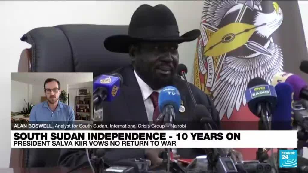 2021-07-09 13:42 S.Sudan's Kiir vows no return to war in independence speech