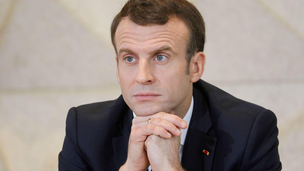 Emmanuel Macron lors d'un déplacement au Tchad, le 23 décembre 2018.