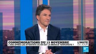 L'ancien juge antiterroriste Marc Trévidic, mardi 13 novembre 2018, sur le plateau de France 24.