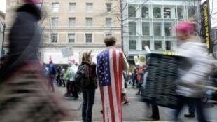 """صورة من الأرشيف لـ""""مسيرة النساء"""" في 20 كانون الثاني/يناير 2018 في سياتل"""