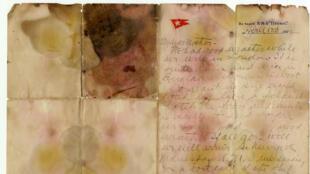 La carta personal del pasajero Alexander Oskar Holverson, escrita a mano un día antes del hundimiento del Titanic. 10/20/2017