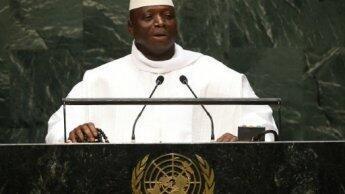 رئيس غامبيا يحيى جامع في الجمعية العامة للأمم المتحدة في 25 أيلول/سبتمبر 2014