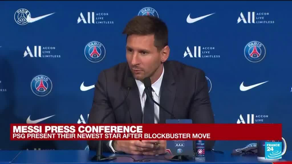 2021-08-11 11:17 Messi's PSG presentation: 'It's been a very emotional time for me, it's a life change'